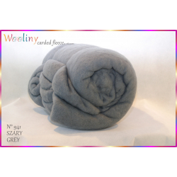 WOOLINY carded fleece - SZARY_941